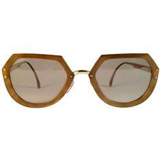 71ef0c7e5b New Vintage Christian Lacroix Ocre Gold Accents 1980 France Sunglass
