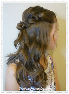 Gorgeous Prom hairstyle. Romantic twist half up.