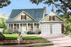 Farmhouse Style House Plan - 3 Beds 2 Baths 1738 Sq/Ft Plan #137-273 Front Elevation - Houseplans.com