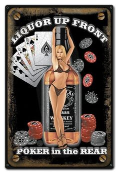 Retro and vintage tin signs MADE IN USA with US steel. We also offer wall clocks and neon decor. Vintage Metal Signs, Vintage Pins, Retro Vintage, Jack Daniels, Don Corleone, Bd Art, Whiskey Girl, Pin Up Posters, Garage Art