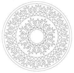 mandala  **i like this one so much i'm pinning it twice to remind myself. would make a fabulous rug.