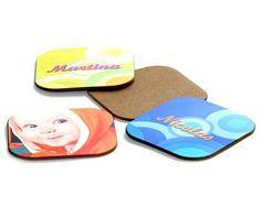 Sottobicchieri personalizzati con foto o loghi