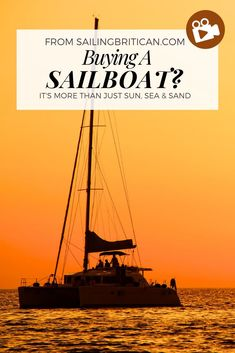 Oct 25, 2020 - This video covers three top tips about how to buy the right sailboat for you. I think you'll be surprized that the boat isn't the most important aspect.