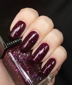 llamasqua Christmas Nail Duo in Viridian & Glitterati