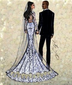 #Hayden Williams Fashion Illustrations #'A Florence Wedding' by Hayden Williams