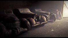 fantasy cars rust sleeping digital art old cars - Wallpaper (#1510734) / Wallbase.cc
