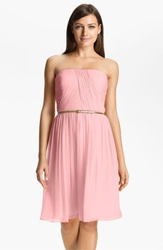 Peach Bellini. Donna Morgan 'Donna' Belted Chiffon Dress available at Nordstrom