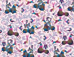 Wrap for Wrap - Lesley Barnes' amazing knights on horses with owls design for wrapping paper - I love it!!