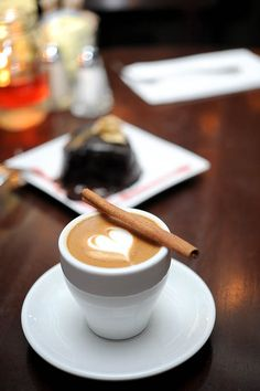 Coffee. Cinnamon. Chocolate. Life's little pleasures ...