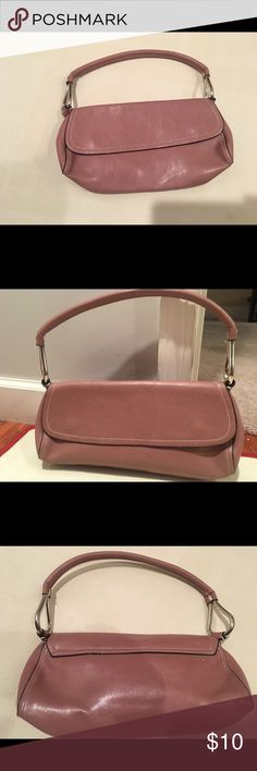 Handbag/clutch Mauve color purse.  Short shoulder strap with chrome details.  Plenty of room inside and a zipper and pockets for storage. Bags Mini Bags