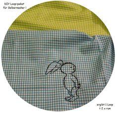 Stoffpaket♥ 1 STICK- DIY Loop Kinder Karo-Hase  von ஐღKreawusel-aufgehübscht✂ஐ  auf DaWanda.com