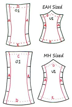 Ever After High doll clothes pattern Corsets by DGRequiem on Etsy