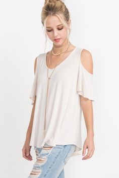 Cold shoulder v-neck top  #stylish #shopthelook #ootd #instastyle #fashiongirl #simpleoutfit #onlineboutique #new #boutique #shopping