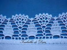 Resultado de imagen de barradinhos em croche para panos de prato telma rocha croche