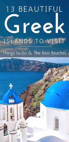 The ultimate Greek island hopping itinerary. Featuring 13 beautiful Greek islands with things to do and the best beaches. |Greece| |Travel| |Islands| |Beautiful Places| |Beach| #Greece #Travel