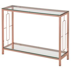 Athena Rose Gold Console Table | Overstock.com Shopping - The Best Deals on Coffee, Sofa & End Tables