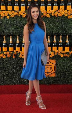 .@ninadobrev looked gorgeous in Badgley Mischka at yesterday's Sixth-Annual Annual Veuve Clicquot Polo Classic in LA