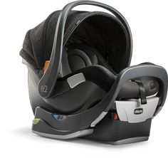 When your baby rides rear-facing in a child safety seat, her upper body — head, neck and spine — is cradled by the back of the child safety seat in the case of a frontal crash, which is the most common type of crash. Chicco designed the Fit2™ car seat to comfortably seat your child in the rear-facing position from day 1 to year 2.