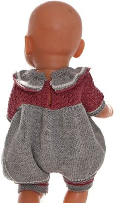 Knitting Dolls Clothes, Doll Clothes, Crochet Doll Dress, Knit Crochet, Baby Born Clothes, Pull Bebe, Baby Sweaters, Baby Knitting Patterns, Girl Dolls