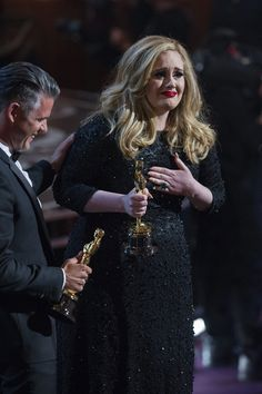 Adele accepting her Oscar. She never loses! :)