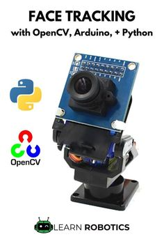 Face Tracking OpenCV, Python, & Arduino - Learn Robotics Face Tracking with OpenCV & Arduino - full tutorial including sample code and demo video. Great for beginners looking for a high-tech project t Diy Arduino, Cool Arduino Projects, Arduino Beginner, Arduino Led, Arduino Programming, Robotics Projects, Electronics Gadgets, Electronics Projects, Learn Robotics