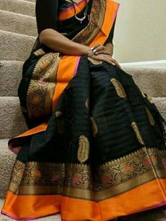Purchase the Poly Silk Black Saree with Matching Color silk Blouse. It contained of Printed. The Blouse which can be customized up to bust size This Unstitch Saree Length mtr including Best Indian Saree Press VISIT link above for more options Black Saree, Green Saree, Saree Dress, Saree Blouse, Sambalpuri Saree, Blouse Neck, Lehenga, Bollywood Saree, Bollywood Fashion