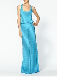 Michael Stars Highline Stripe Blouson Maxi Dress