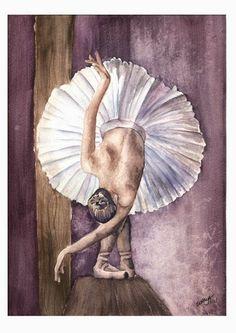 52aquarelas: 39/52 - Serie Ballet - Bailarina 03