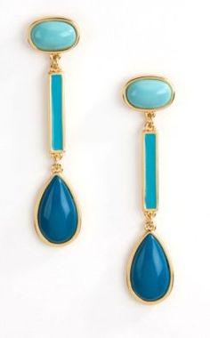 Blue stone earrings via REVEL