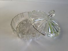 Vintage Starburst Glass Candy Dish with Lid  by EightBoardsFarm, $15.00