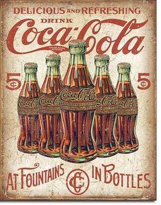 COCA COLA metal sign black bottle in hand vintage style coke ad soda pop Coca Cola Vintage, Pub Vintage, Vintage Signs, Ideas Vintage, Vintage Stuff, Vintage Industrial, Vintage Images, Coca Cola Poster, Coca Cola Ad
