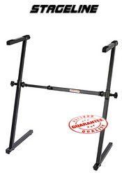 """Stageline Collapsible Z Keyboard Stand, KS28 by Stageline. $49.95. Features secure and sturdy height and width adjustment. Black finish. Load capacity 198 lbs. Height adjustment 21.75""""-35.5"""", Width adjustable 21.75""""-36.25 Important: Some stands may require assembly.. Save 29%!"""