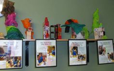 Art documentation - love the ledge to hold creations and close proximity to documentation panels