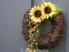Türkränze - Türkranz große Sonnenblumen - ein Designerstück von Meissner-Floristik bei DaWanda