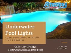 These high-quality Nicheless LED Underwater Lights are Corrosion free,Waterproof & to be used for Pools,Ponds,Lakes,Fountains Inground Pool Lights, Underwater Led Lights, Ponds, Night Time, Lakes, Swimming Pools, Fountain, Outdoor Decor, Free