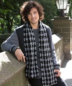 Cross-Stitch Scarf Crochet Pattern ~ turn this into an Infinity scarf by sewing ends together.
