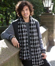 multi colored yarn, free pattern, redheart crochet patterns, scarv