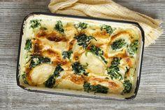 Tepsis, spenótos, sajtos krumpli - Egytálétel és köret is lehet