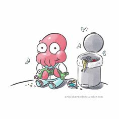"If you're having lunch, have one with ""Chibi #Zoidberg"" by TriciaBuchananBenson 