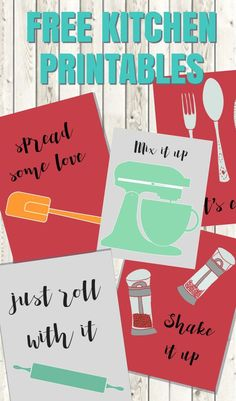Your kitchen is so important; it deserves lovely decor! Thank goodness for kitchen printables! These cute and funny wall art prints are sure to spice up your home.