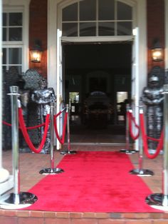 We set-up red carpet for a princess themed party. #Atlanta #rental #red #carpet #entrance #VIP #stanchion