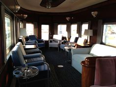 Inside the Pontchartrain Club car, just prior to our entry into Union Station to pickup our first guests of the season.