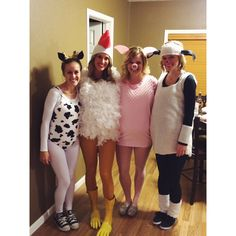 Old McDonald's Farm: Cow Costume, Chicken Costume, Sheep Costume, Pig Costume || Cute Homemade Halloween Costumes {@ whitnelson Instagram}