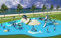 Creative marine theme design concept incorporating innovative and relevant play for children of all ages and abilities.  www.kompan.com www.corocord.com