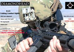 Diamondhead D-45 Combat Folding Sights