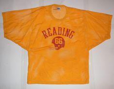 1c7da2676 GAME WORN READING HIGH SCHOOL RANGERS  66 MICHIGAN RUSSELL FOOTBALL JERSEY  L  ReadingHighSchoolRangers Vintage