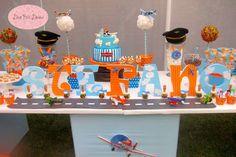 Disney Planes Birthday Party Ideas | Photo 1 of 79 | Catch My Party 7th Birthday Party Ideas, Baby 1st Birthday, Birthday Party Decorations, Disney Planes Birthday, Disney Planes Party, Airplane Party, Thing 1, Party Time, Gabriel