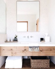 Bathroom Decor marble Bathroom design with wood vanity and white marble backsplash Wood Bathroom, Bathroom Inspo, Bathroom Renos, Bathroom Inspiration, Bathroom Interior, Master Bathroom, Bathroom Ideas, Bathroom Storage, Vanity Bathroom