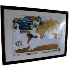 Carte du monde à gratter - votre mappemonde personalisée! | Cadeaux Folies