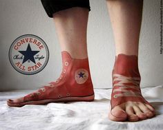 I don't like the whole foot, but I'd definitely get the converse logo. I literally only wear converse high tops.
